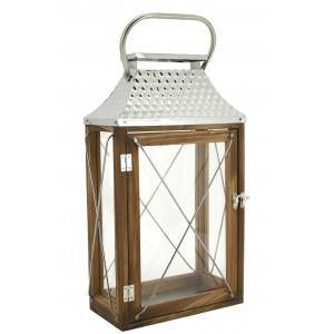 Photo DBO3870V : Metal and wooden lantern embossed rooftop