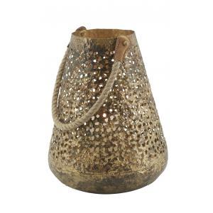 Photo DBO4010 : Lanterne en métal antique ajouré