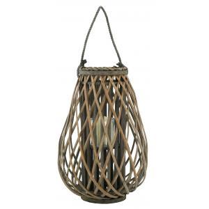 Photo DBO4031V : Grey willow and glass lantern