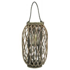 Photo DBO4041V : Grey willow and glass lantern