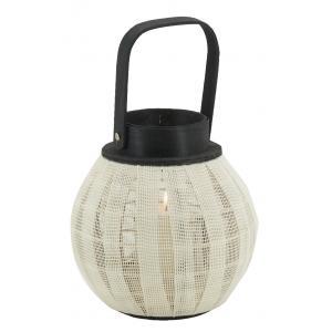 Photo DBO4050V : Round wood and cotton lantern