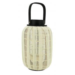 Photo DBO4060V : Lanterne en bois et coton tissé