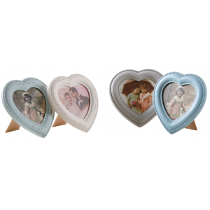 Photo DCA2240V : Aged wood heart-shaped photo frame