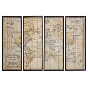 Photo DCA2370 : Mappemonde 4 cadres en bois