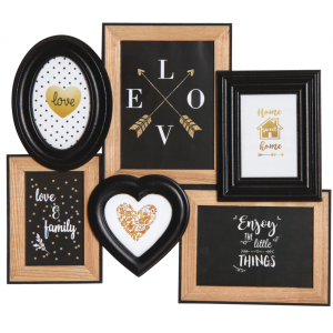 Photo DCA2440V : Wooden multiple pictures frame