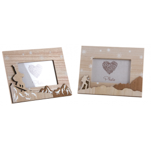 Photo DCA2510 : Wood photo frame mountain decor