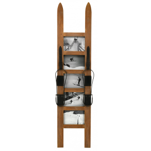 Photo DCA2580V : Wooden photo frame skis