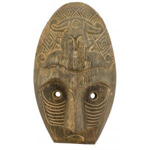 Photo DCA2610 : Masque ethnique en bois teinté gris