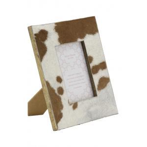 Photo DCA2621V : Cadre photo avec peau de vache