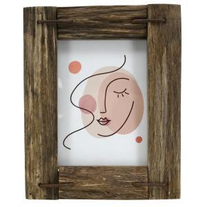 Photo DCA2642V : Cadre photo en bois avec décor abstrait rosé