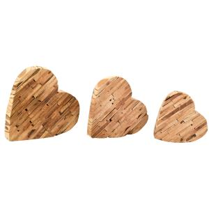 Photo DMA166S : Coeurs à poser en bois