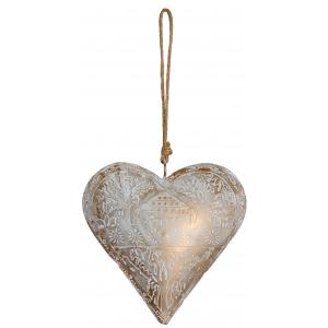 Photo DMO1660 : Coeur doré à suspendre