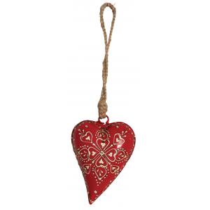 Photo DMO1670 : Coeur rouge à suspendre.