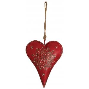 Photo DMO1680 : Coeur rouge à suspendre