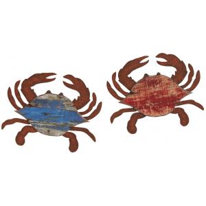 Photo DMU1810 : Décoration murale crabe rouge et bleu