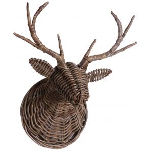 Photo DMU1910 : Trophée tête de cerf en peolet gris