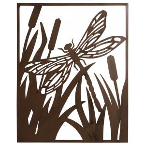Photo DMU2010 : Cadre libellule en métal
