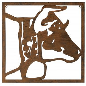 Photo DMU2170 : Décor mural vache en métal vieilli
