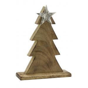 Photo DNO1590 : Sapin en manguier avec étoile en aluminium