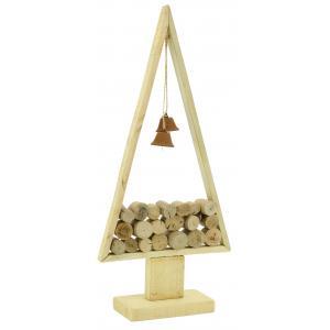 Photo DNO1650 : Sapin en bois et métal avec cloches