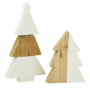 Photo DNO169S : Natural wood and ceramic christmas trees