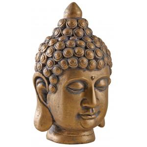 Photo DST1360 : Tête de Bouddha en résine