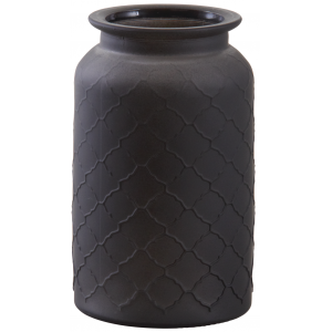 Photo DVA1620V : Matte black glass vase