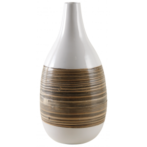 Photo DVA1630 : Lacquered bamboo vase