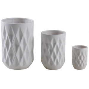 Photo DVA167SV : Matt white ceramic vases