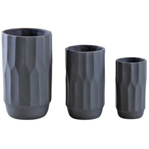 Photo DVA168SV : Matt grey ceramic vases