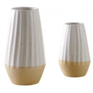 Photo DVA173S : White ceramic vase terrazo