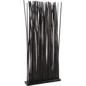 Photo DVI1600 : Socle + 80 tiges de bambou patiné noir