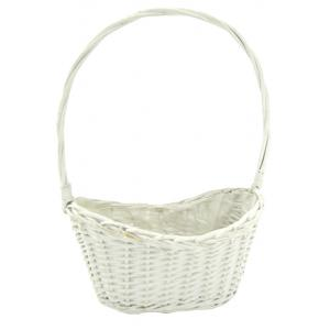 Photo FCO5520P : White lacquered willow basket