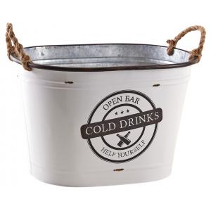 Photo GCO4170 : Corbeille en métal laqué - Cold drinks -