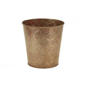 Photo GCO4260 : Cache-pot en métal Fleur