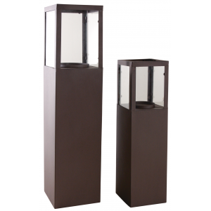 Photo GLA123SV : Rusty finish metal lanterns