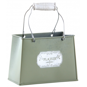 Photo GPA1410 : Panier métal - Plaisir -