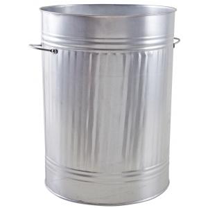 Photo GPO1100 : Heavy zinc trash cans