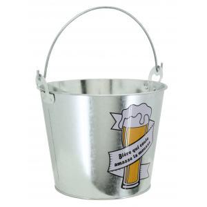 Photo GSE1570 : Seau à bière en métal galvanisé Bière qui coule amasse la mousse