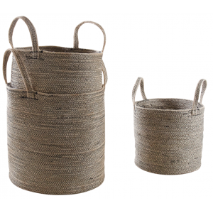 Photo JCP389S : Cache-pot en jute et coton