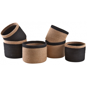Photo JCP390S : Cache-pot rond en jute