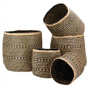 Photo JCP412S : Cache-pots en jonc teinté