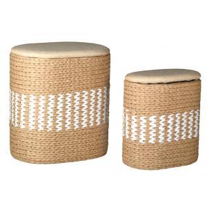 Photo KLI369SC : Paniers à linge en papier corde et coton