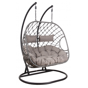 Photo MBA1280C : Double polyresin hanging chair