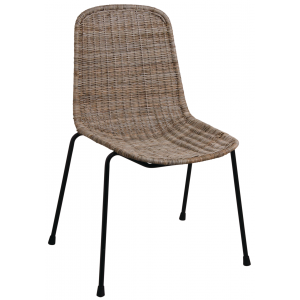 Photo MCH1670 : Grey pulut rattan chair