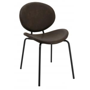 Photo MCH1731 : Brown imitation leather and metal chair
