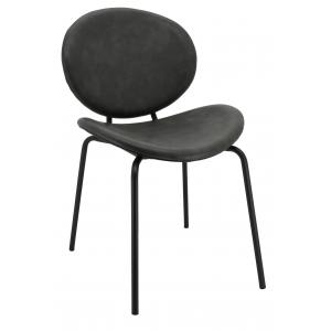 Photo MCH1732 : Grey imitation leather and metal chair