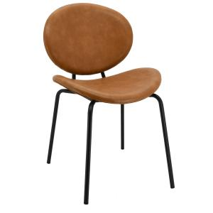 Photo MCH1733 : Camel imitation leather and metal chair