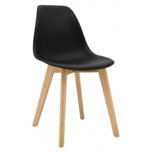 Photo MCH1772 : Black polypro and beechwood chair