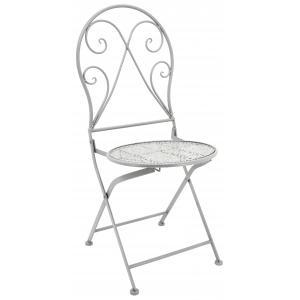 Photo MCT1240 : Chaise pliante en métal forgé